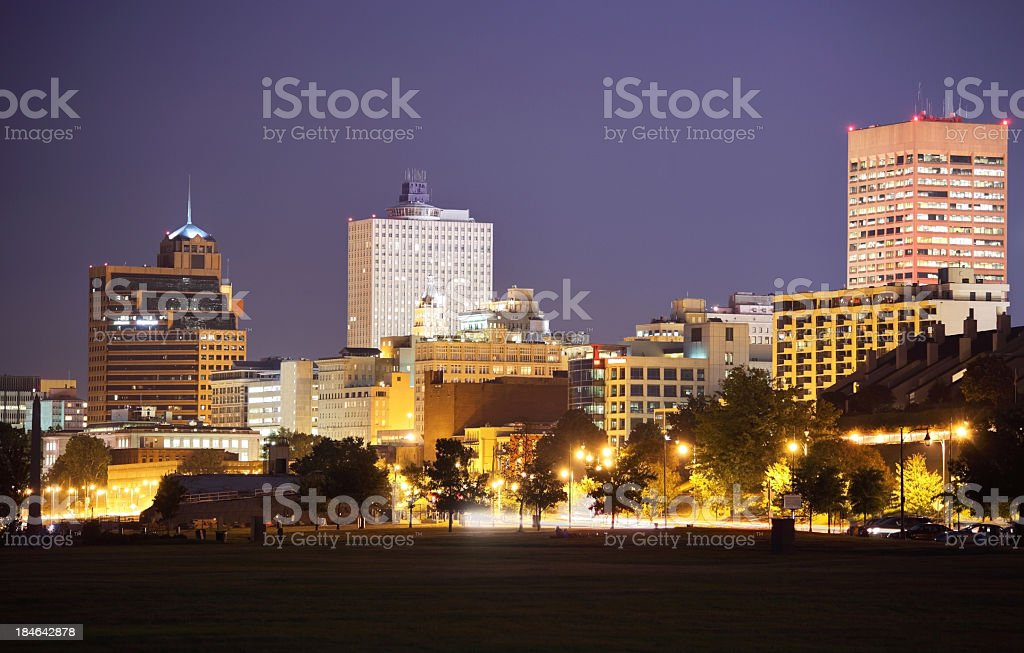 Downtown Memphis royalty-free stock photo