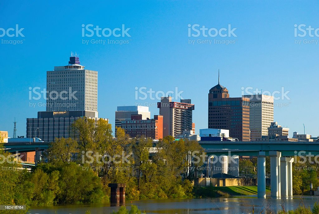 Downtown Memphis skyline royalty-free stock photo