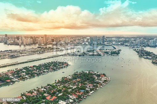 istock Downtown Miami and some of the Biscayne Bay Islands 519354968