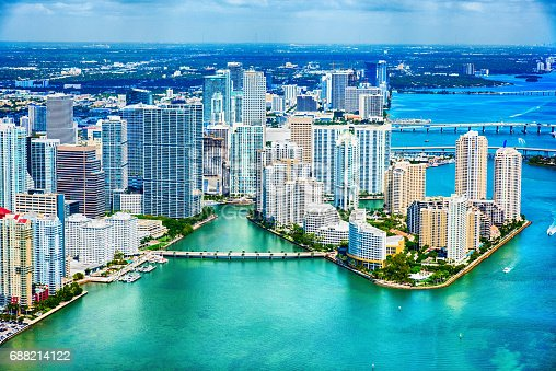 istock Downtown Miami and the Biscayne Bay Aerial 688214122
