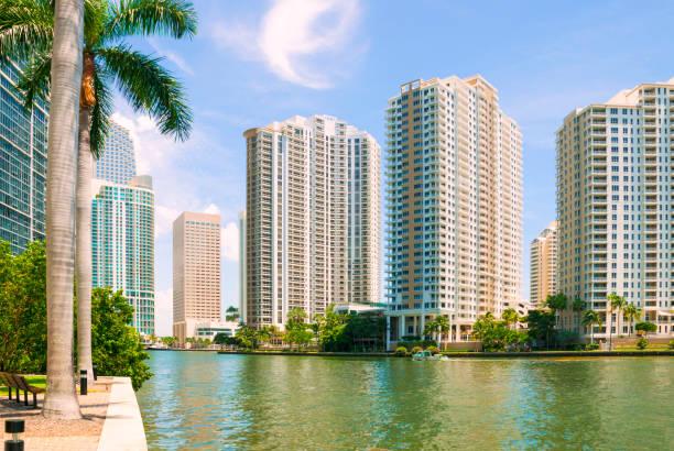 Downtown Miami, Brickell Key stock photo