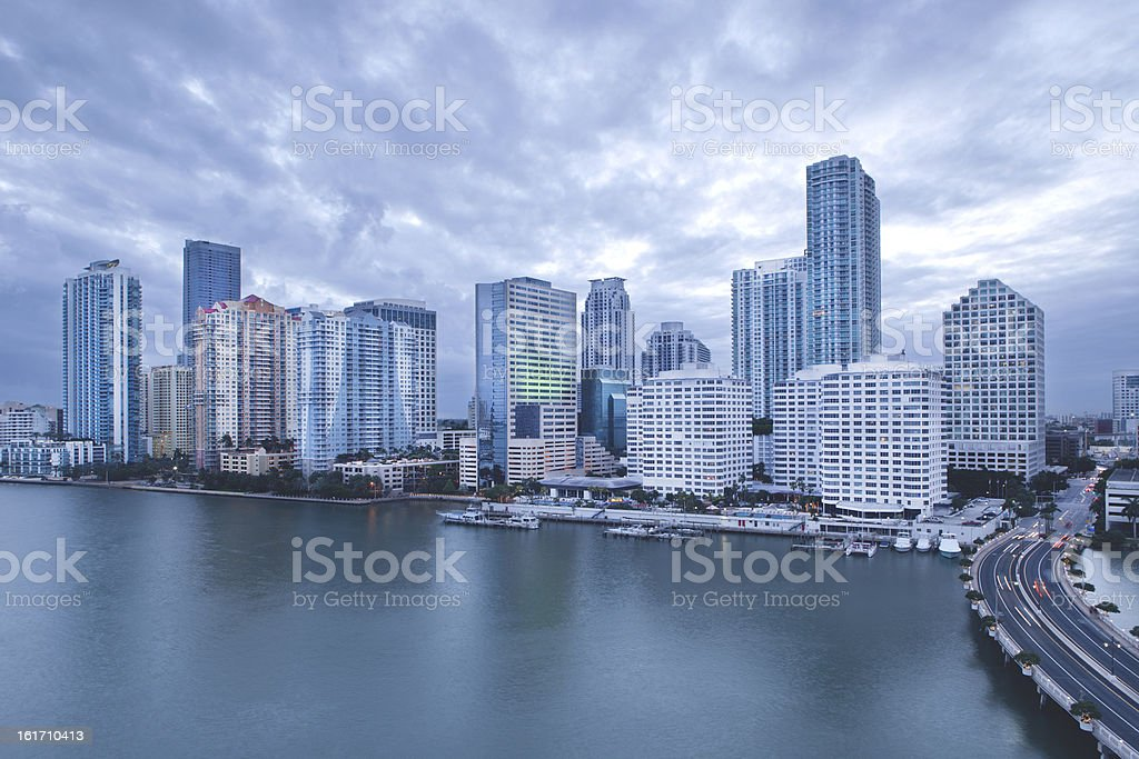Downtown Miami Brickell Skyline royalty-free stock photo