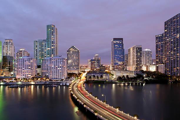 Downtown Miami Brickell Skyline stock photo
