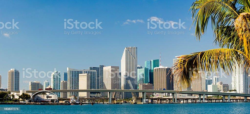 Downtown Miami City Skyline In Florida USA royalty-free stock photo