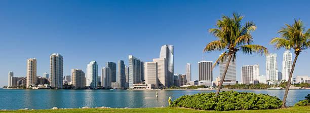 Downtown Miami City Skyline USA stock photo