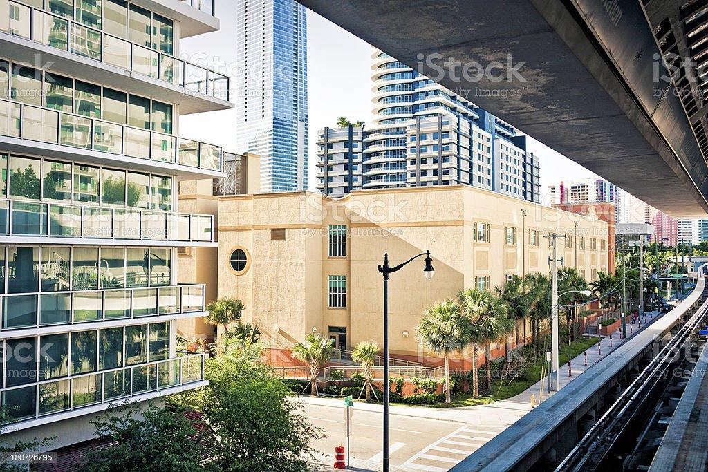 Downtown Miami royalty-free stock photo