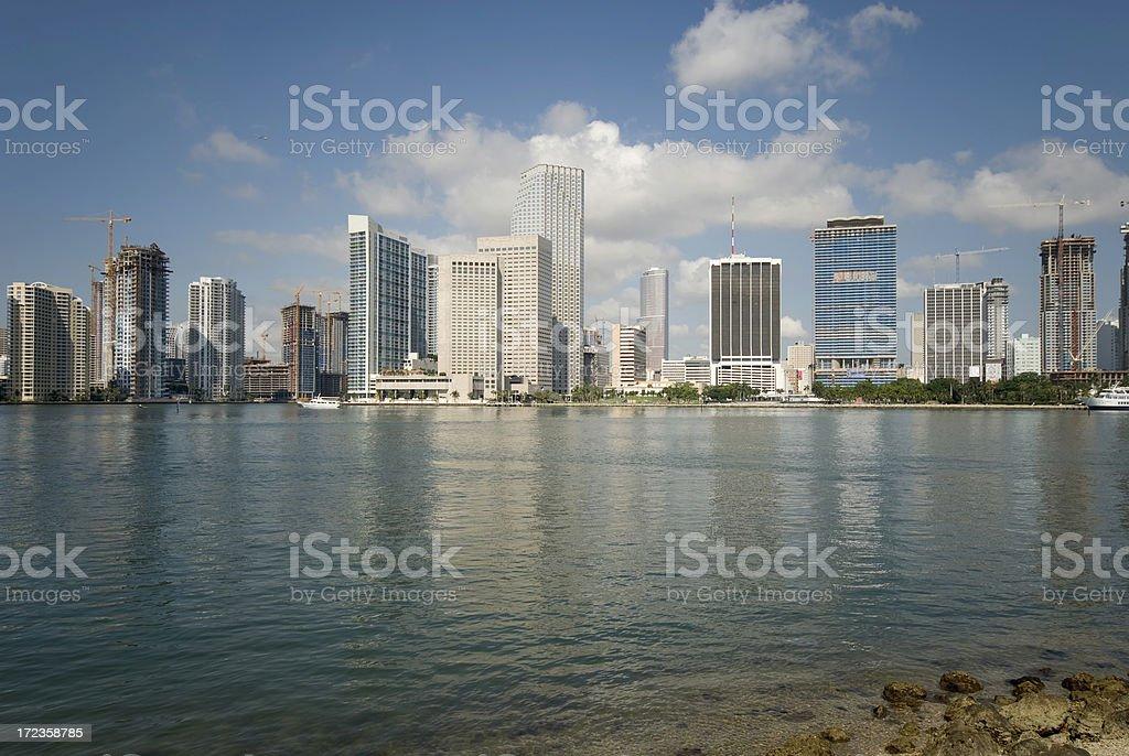 Downtown Miami Skyline royalty-free stock photo