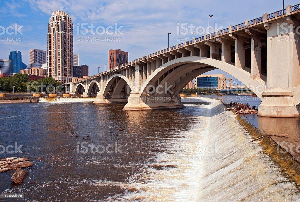 Downtown Minneapolis Minnesota Daytime royalty-free stock photo