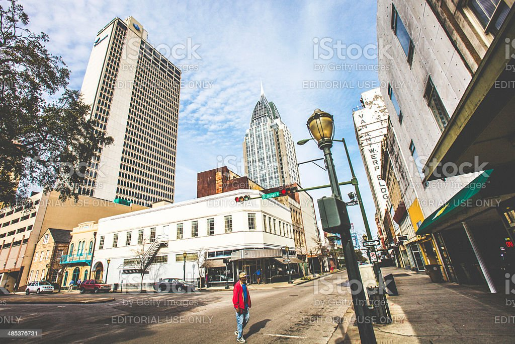 Downtown Mobile. stock photo