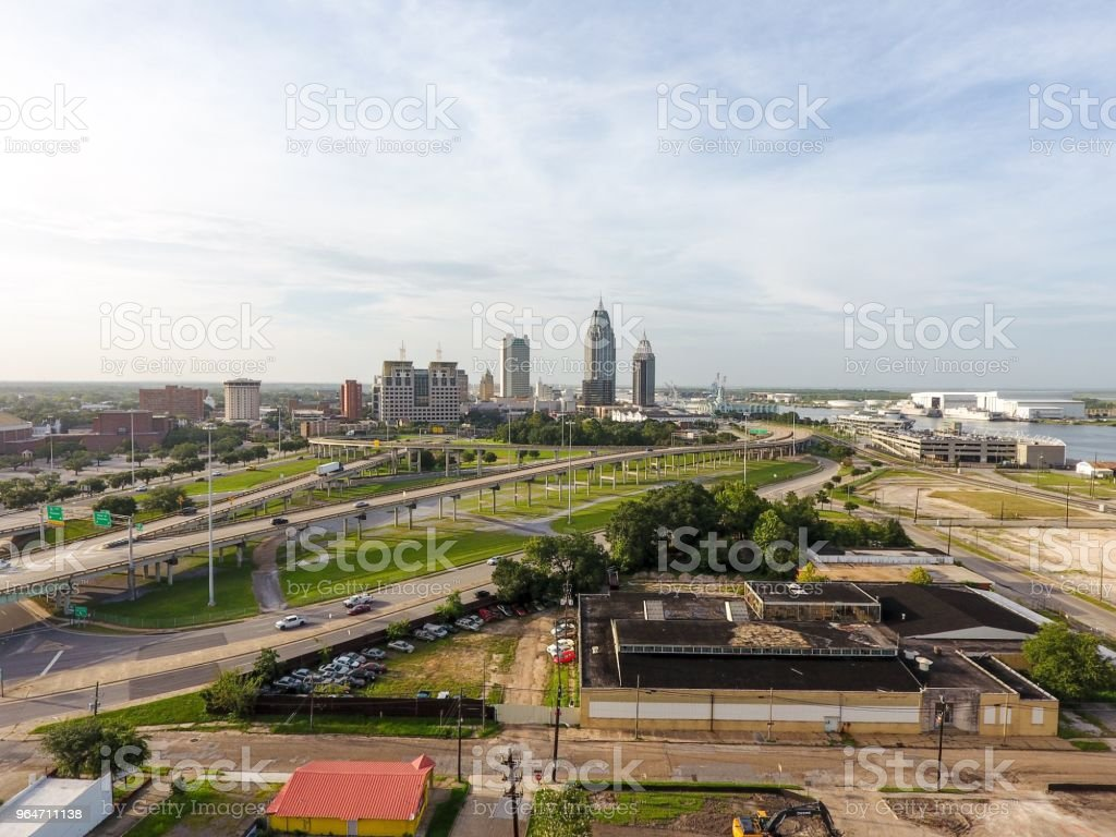 Downtown Mobile skyline royalty-free stock photo