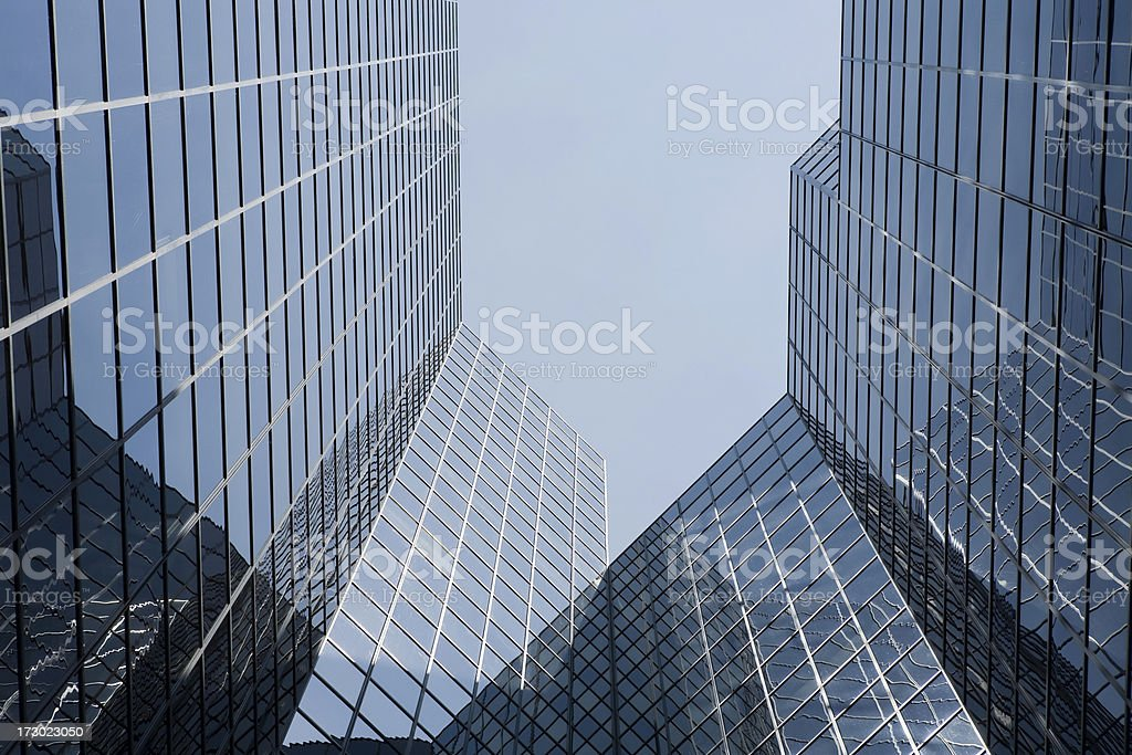 Downtown Montreal Buildings stock photo