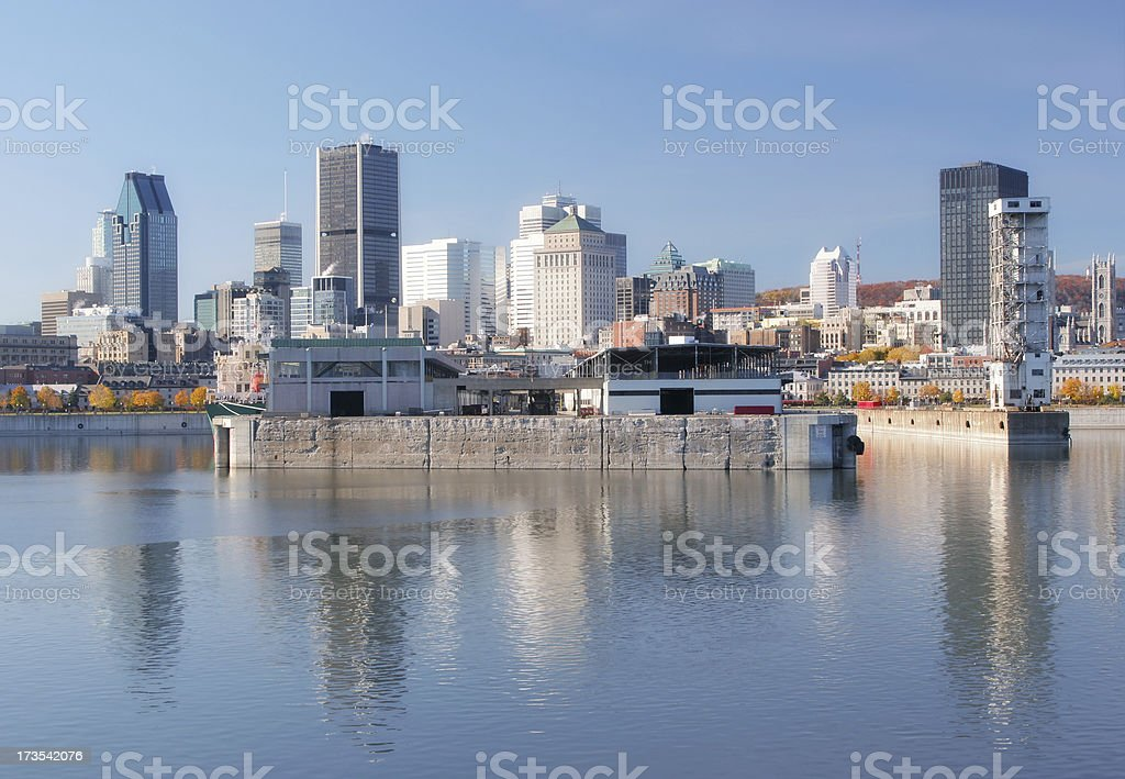 Downtown Montreal City stock photo