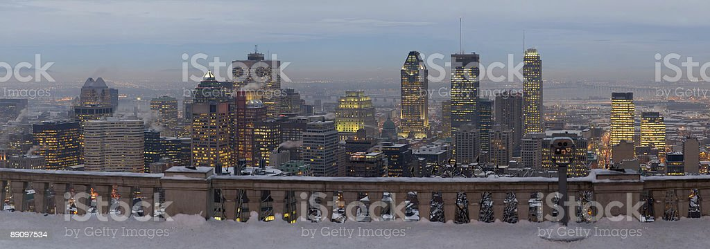 Downtown Montreal from Mount Royal royalty-free stock photo