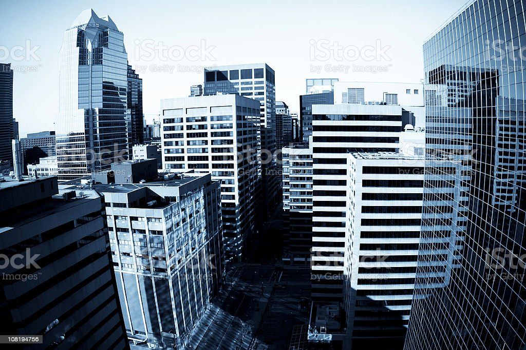 Downtown Montreal royalty-free stock photo