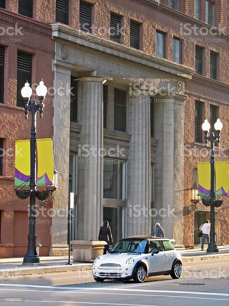 Downtown Morning Street Scene stock photo