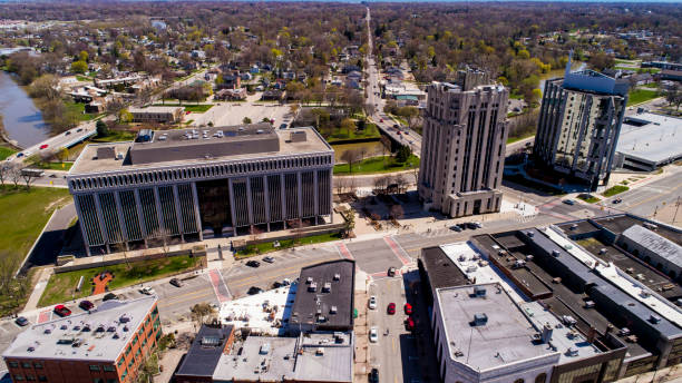 Downtown Mount Clemens, Michigan stock photo