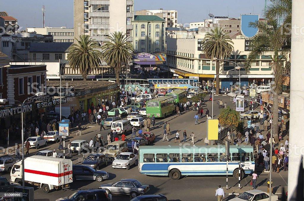 Downtown Nairobi stock photo