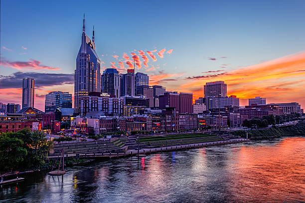 Downtown Nashville stock photo