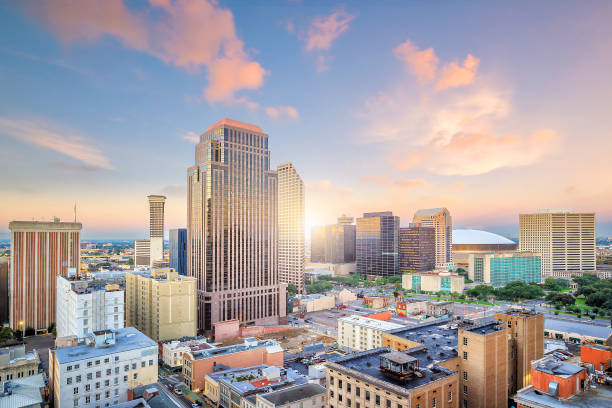 Downtown New Orleans, Louisiana, USA stock photo