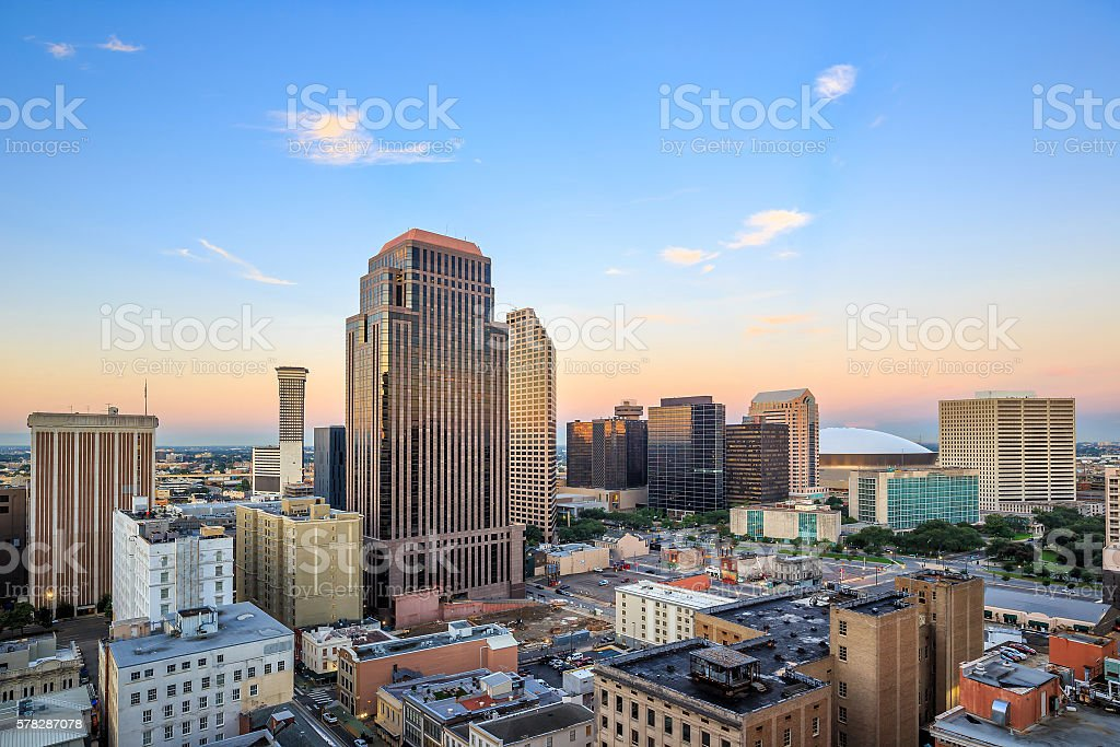 Downtown New Orleans, Louisiana, USA stock photo