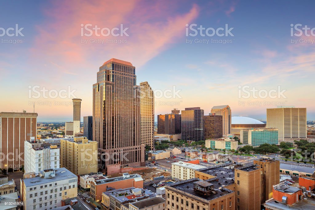 Downtown new orleans stock photo