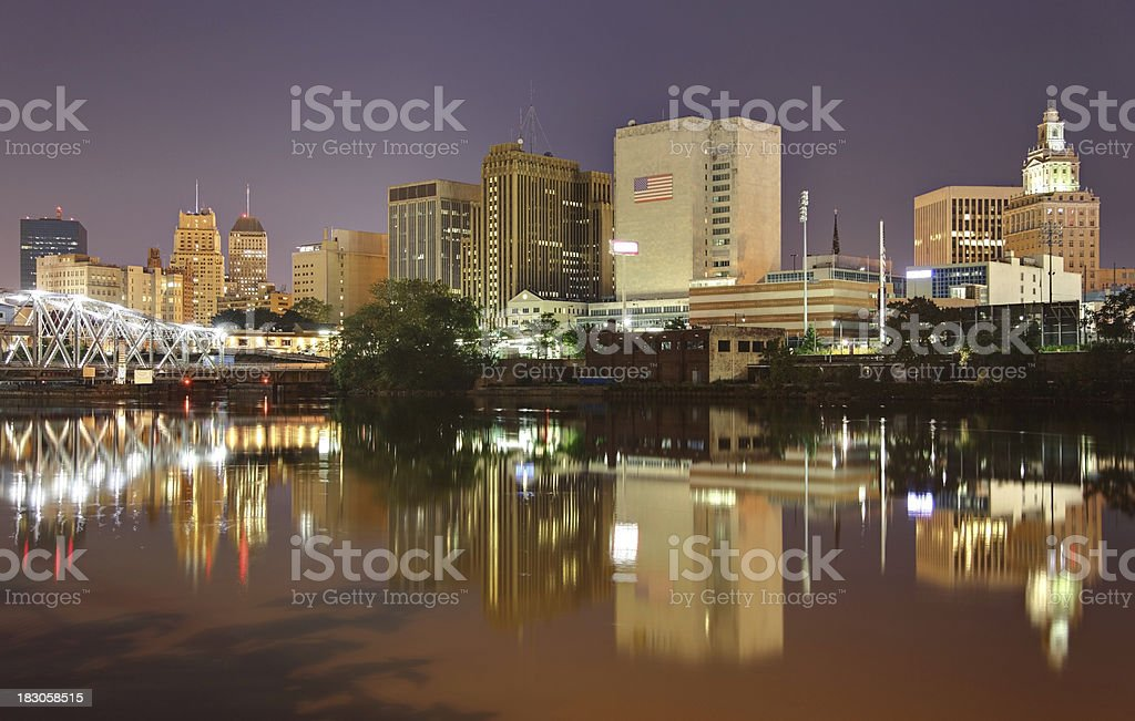 Downtown Newark, New Jersey stock photo