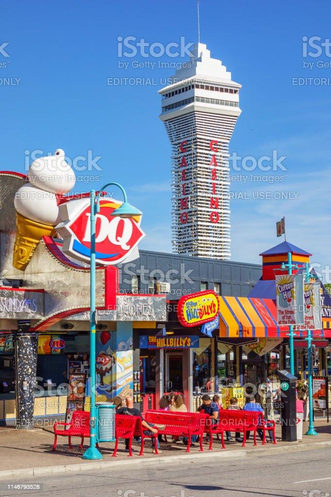 Downtown Niagara Falls Ontario Canada Stock Photo Download