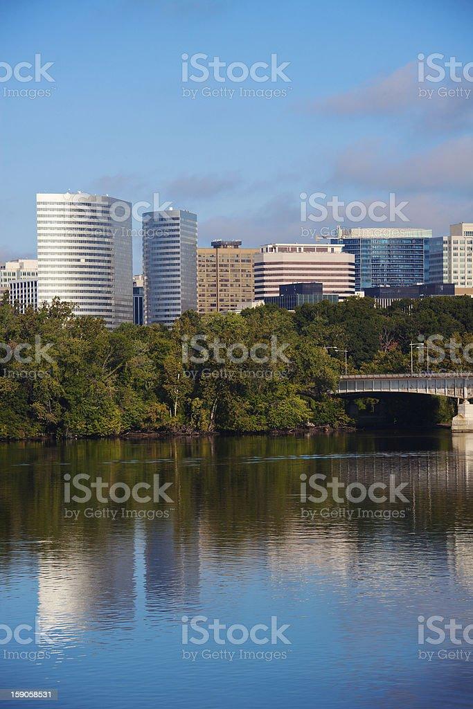 Downtown of Arlington, Virginia stock photo