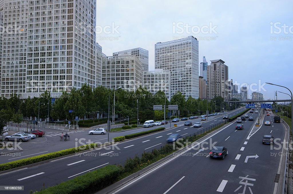 downtown of Beijing royalty-free stock photo