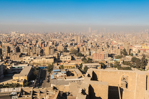 468444004 istock photo Downtown of Cairo seen from the Saladin Citadel (Egypt) 468403590