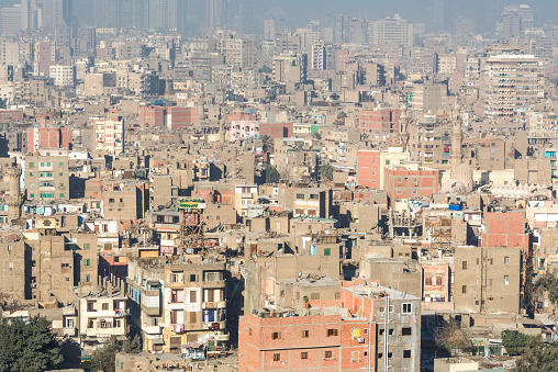 468444004 istock photo Downtown of Cairo seen from the Saladin Citadel (Egypt) 468443362