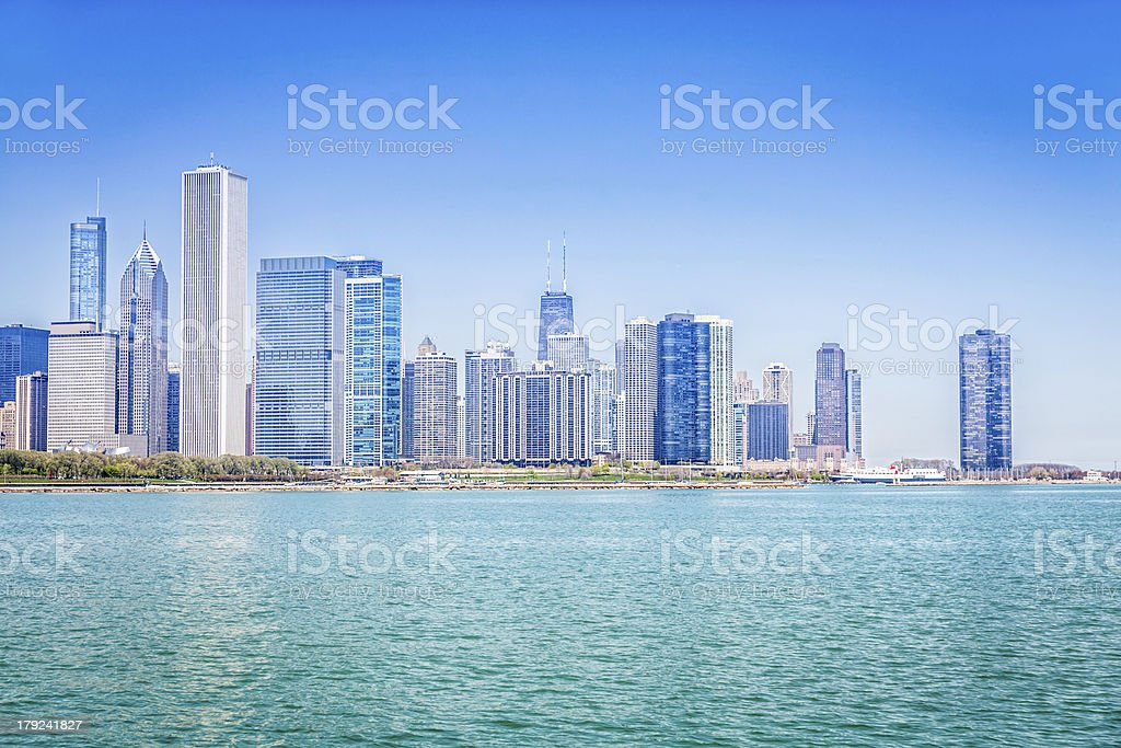 Downtown of Chicago royalty-free stock photo