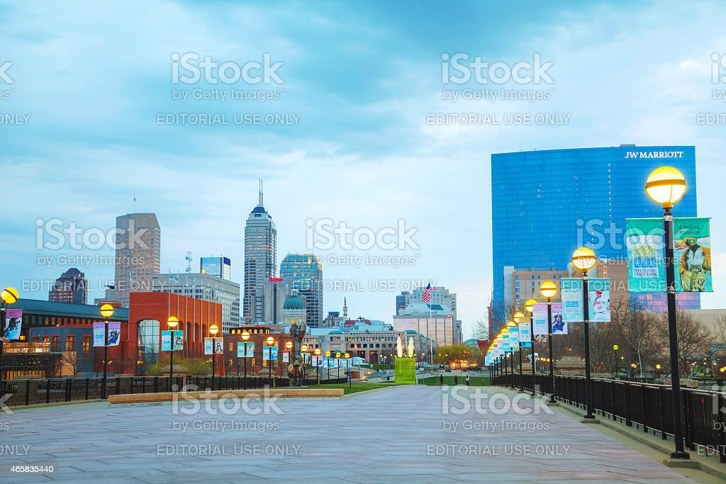 Downtown of Indianapolis stock photo