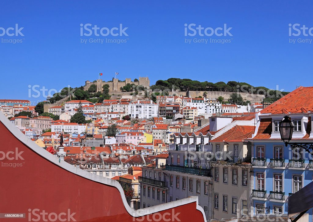 Downtown of Lisbon stock photo