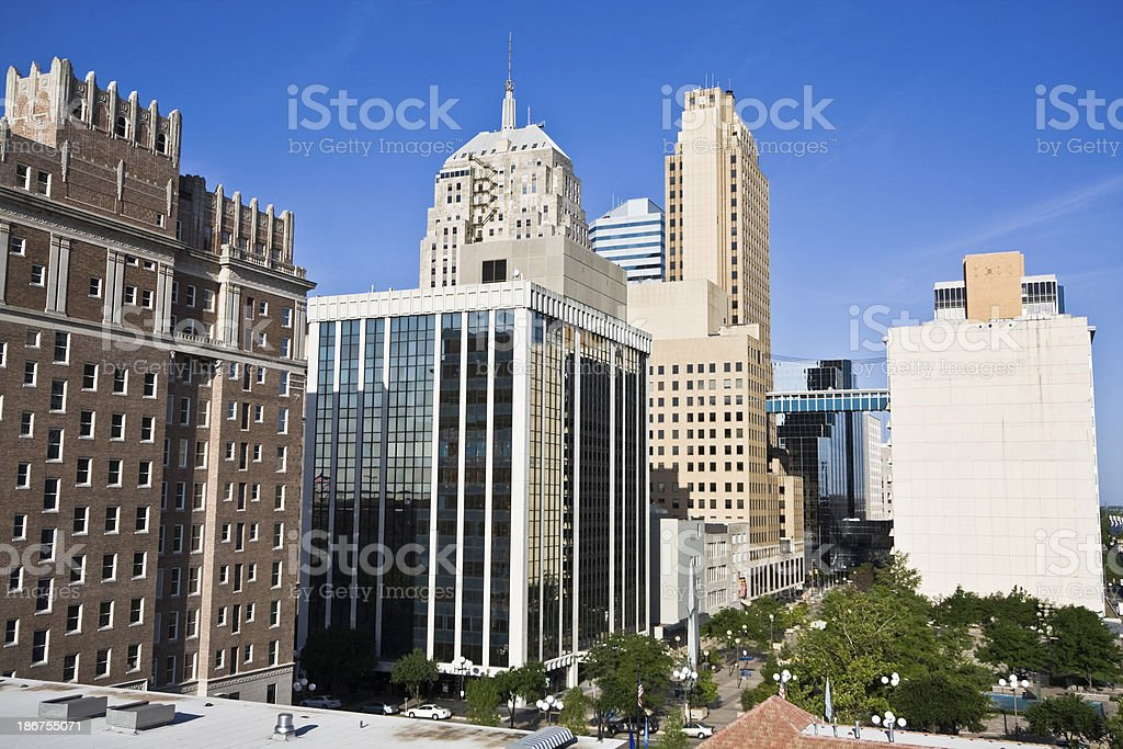 Downtown of Oklahoma City royalty-free stock photo