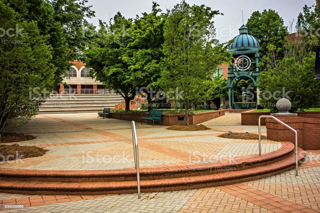 downtown of old town rock hill south carolina stock photo