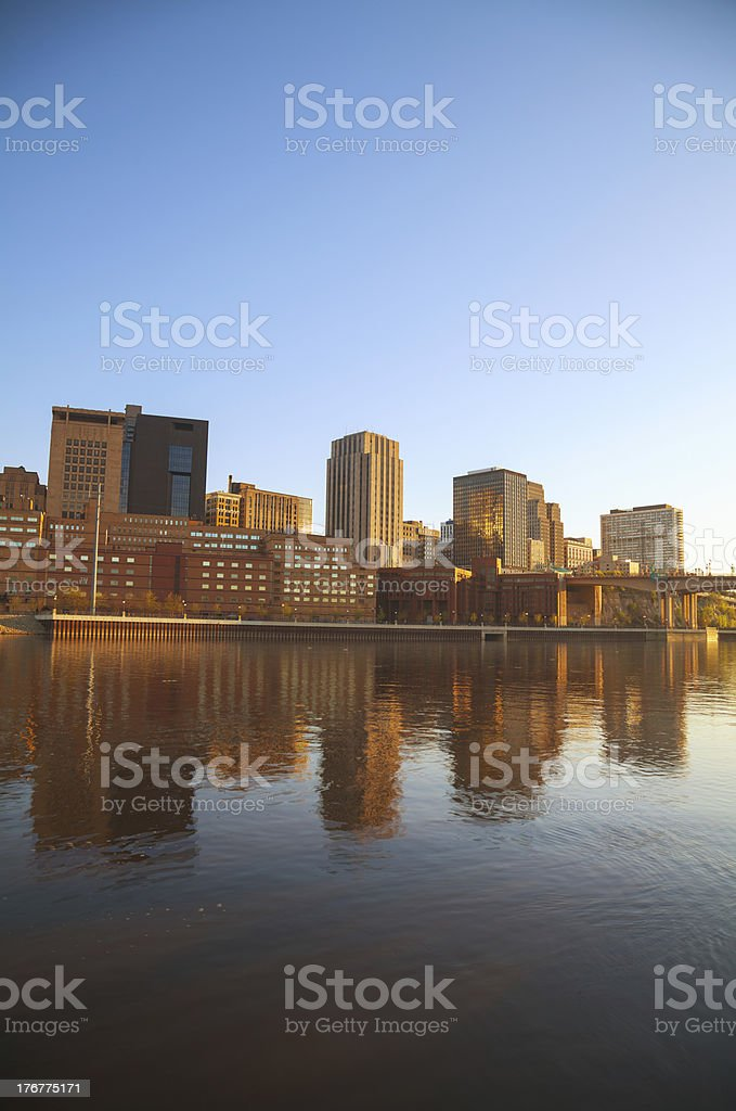 Downtown of St. Paul, MN royalty-free stock photo