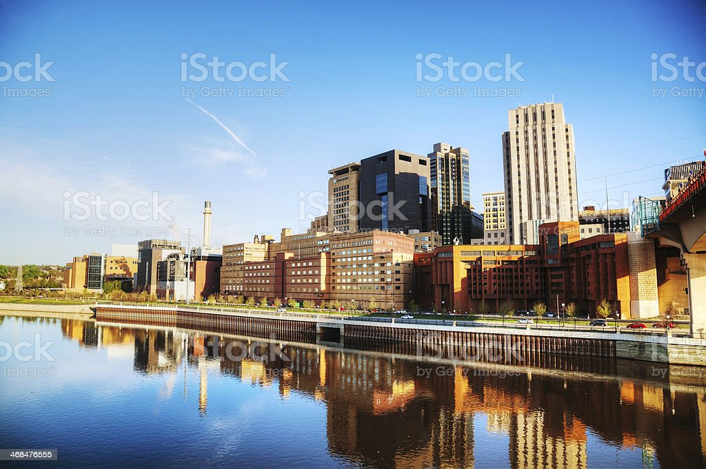 Downtown of St. Paul, MN stock photo