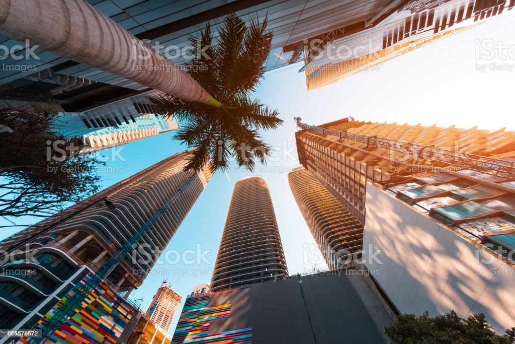 마이애미 시의 다운 타운 - 로열티 프리 0명 스톡 사진