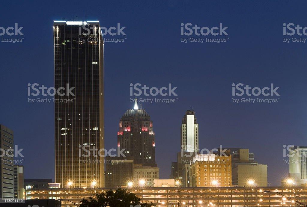 Downtown Oklahoma City at Dusk royalty-free stock photo