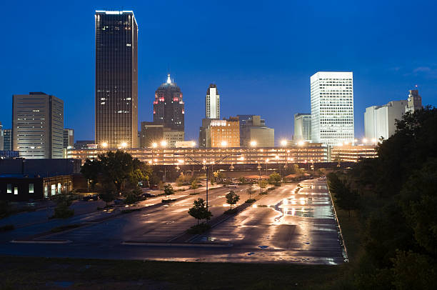 Downtown Oklahoma City at Dusk stock photo
