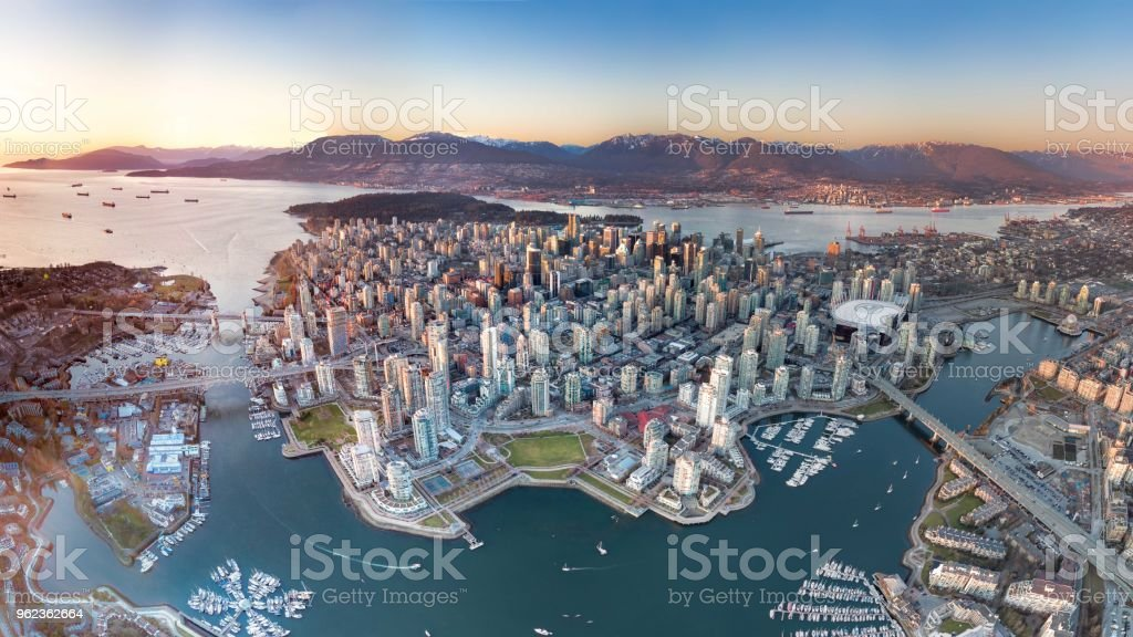 Downtown or Island? stock photo