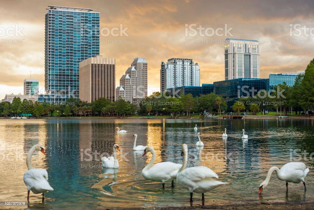 Downtown Orlando, Florida stock photo