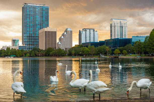 Downtown Orlando, Florida stock photo