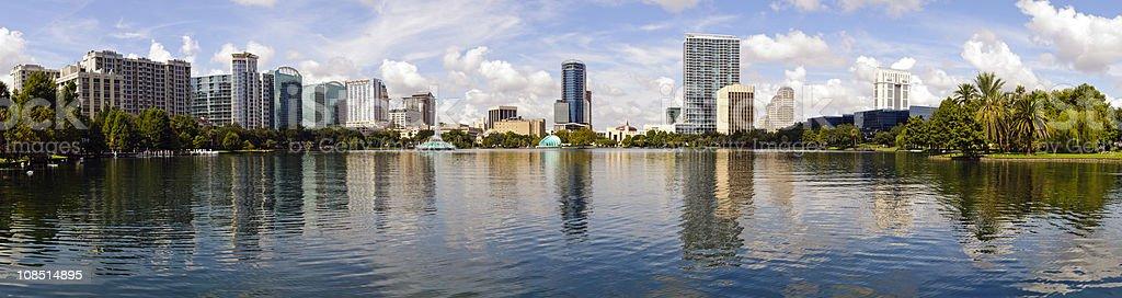 Downtown Orlando, Florida Skyline Panoramic royalty-free stock photo