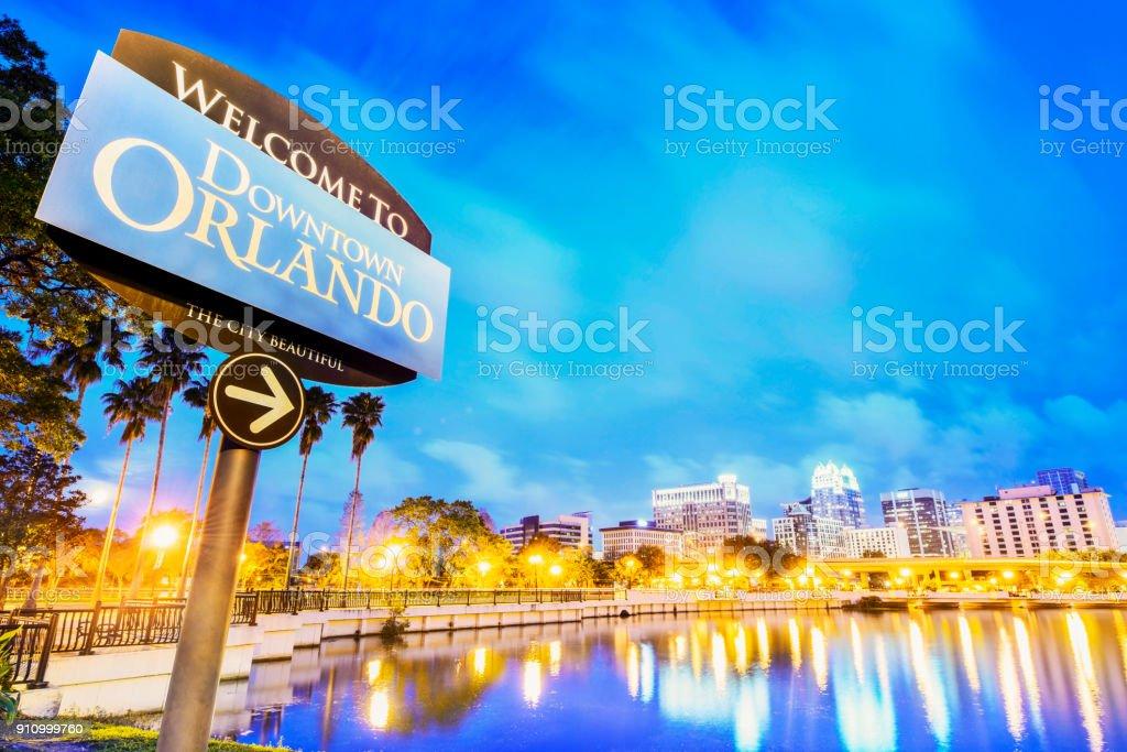 Downtown Orlando stock photo