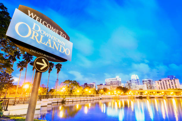 downtown orlando - orlando florida photos stock photos and pictures