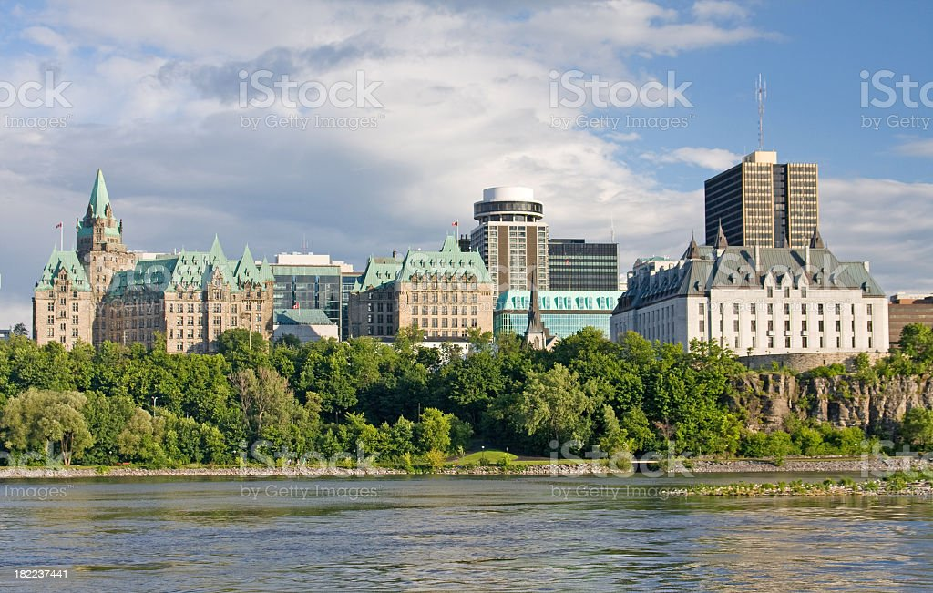 Downtown Ottawa Skyline royalty-free stock photo