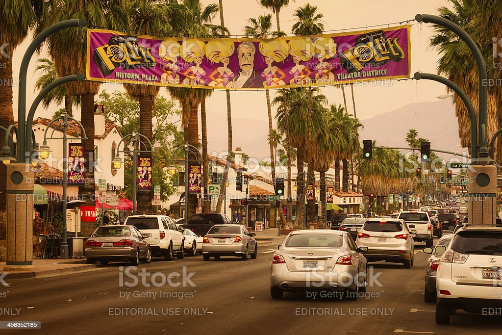 Downtown Palm Springs royalty-free stock photo
