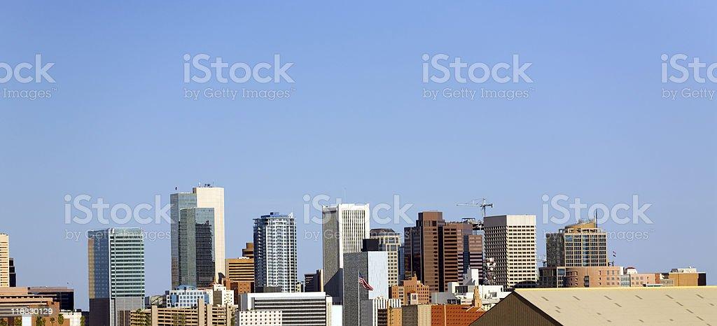 Downtown Panorama, Phoenix, AZ royalty-free stock photo